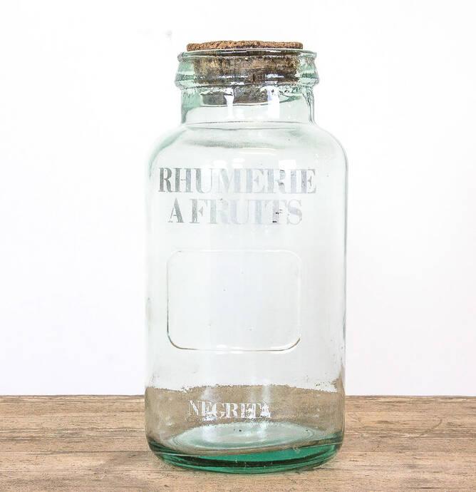 Antiek glazen pot Rhumerie a fruit Negrita thumbnail