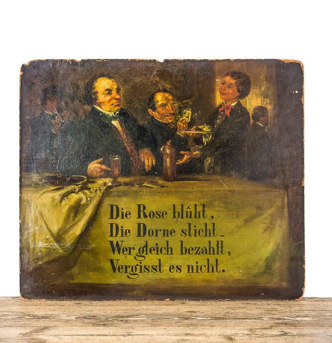 Antiek Duits café bordje thumbnail
