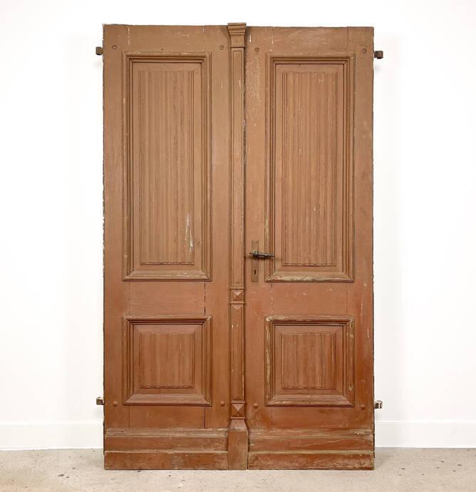 Set antieke deuren circa 1850 met briefpanelen