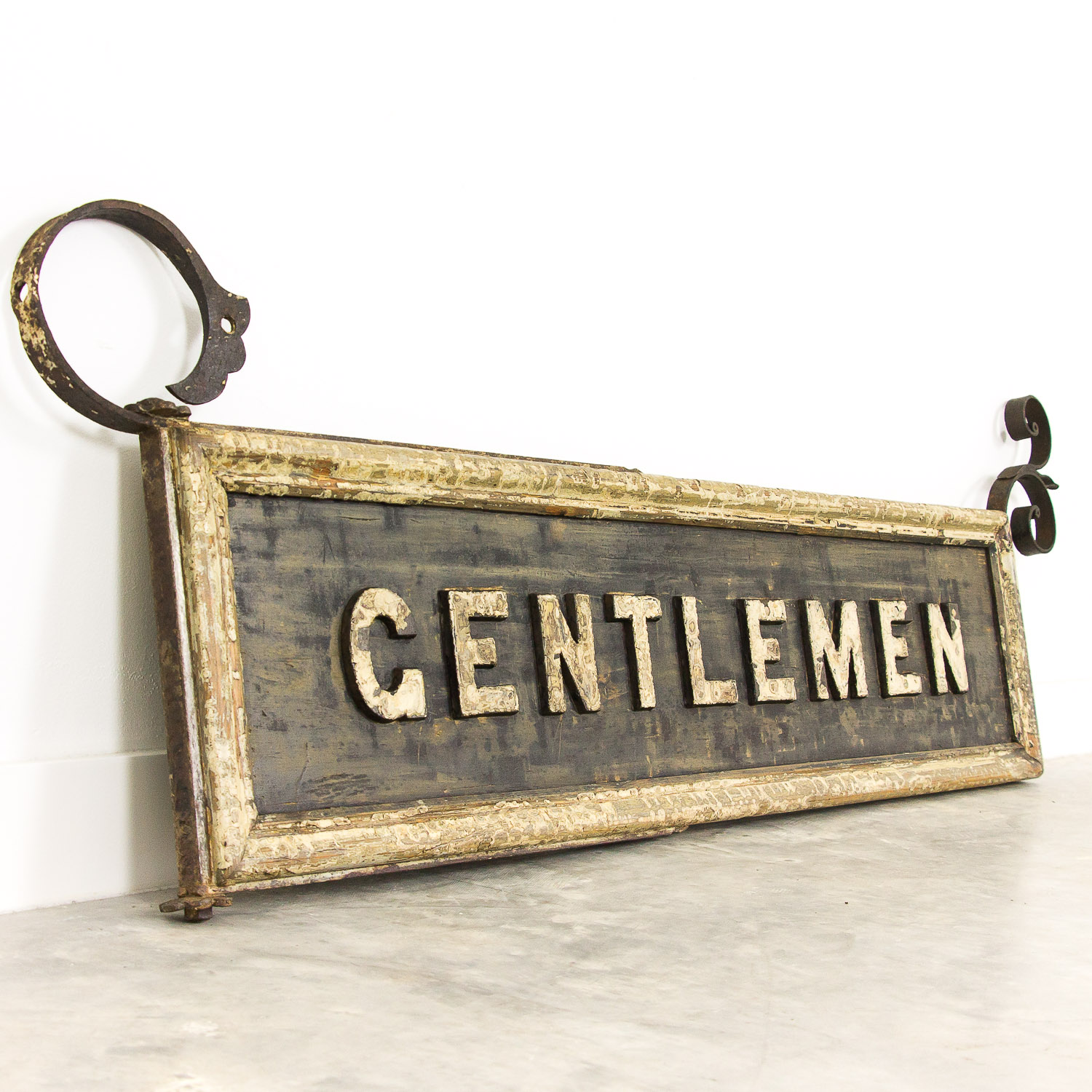 Antique double sided Gentlemen sign