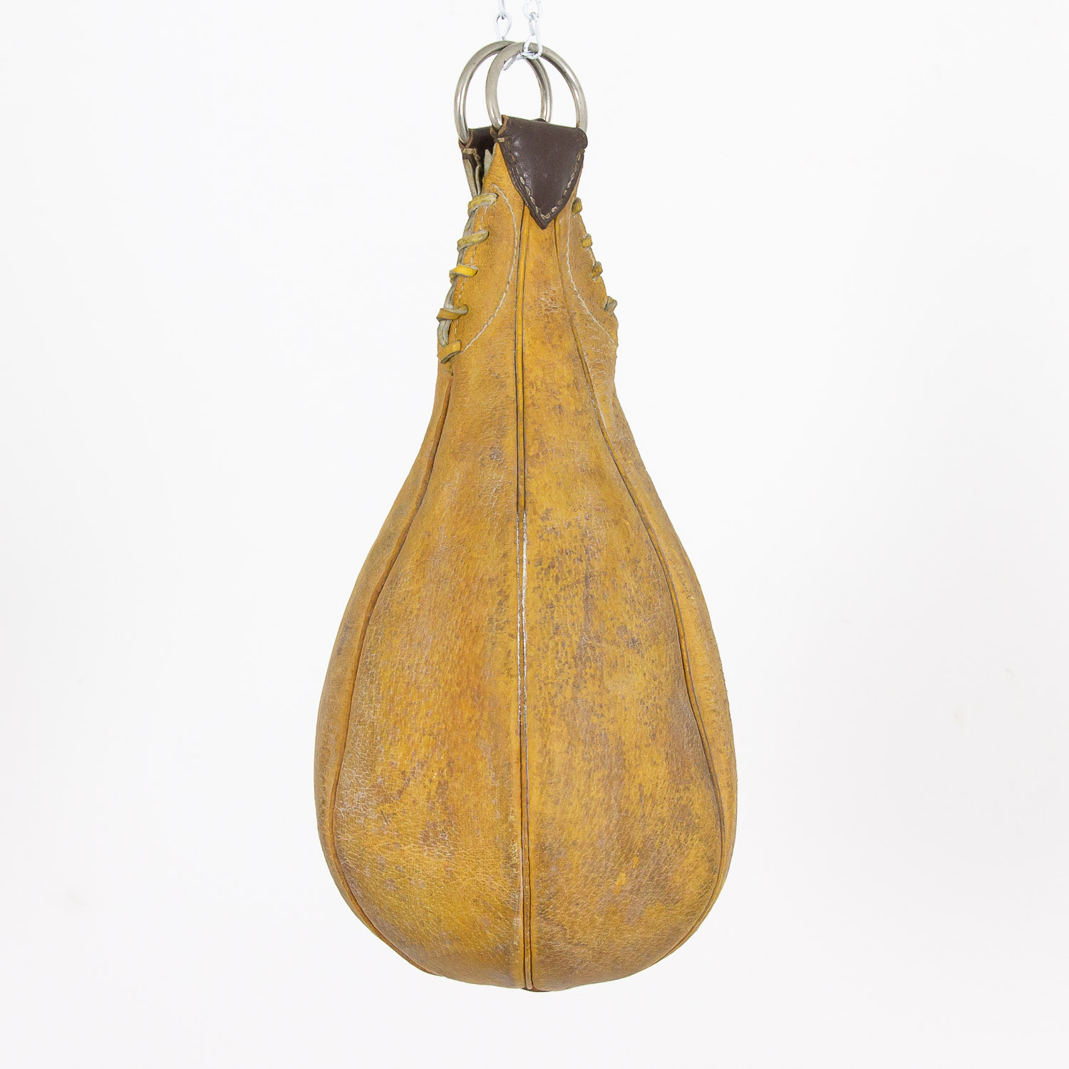 Vintage leather punching bag 'speed bag'