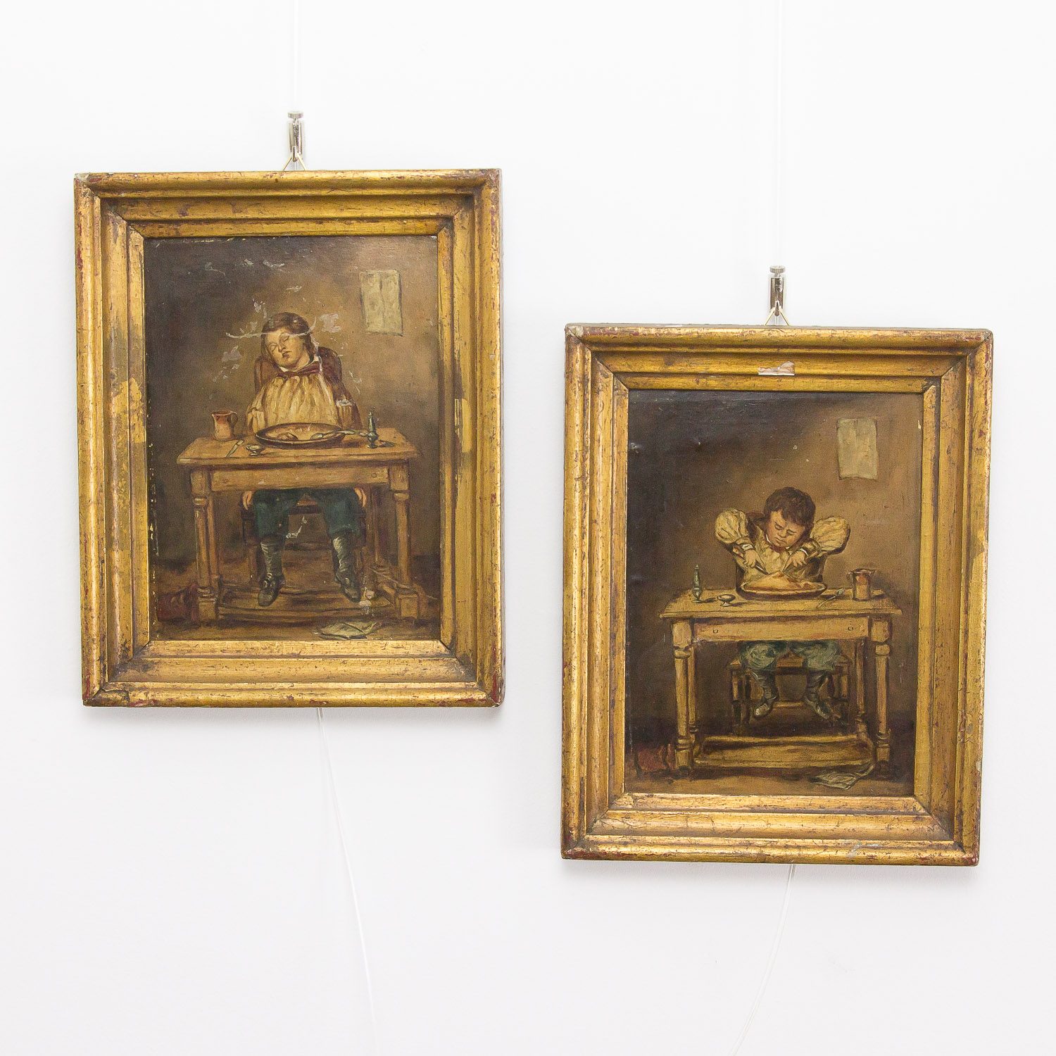Set of 2 antique portraits