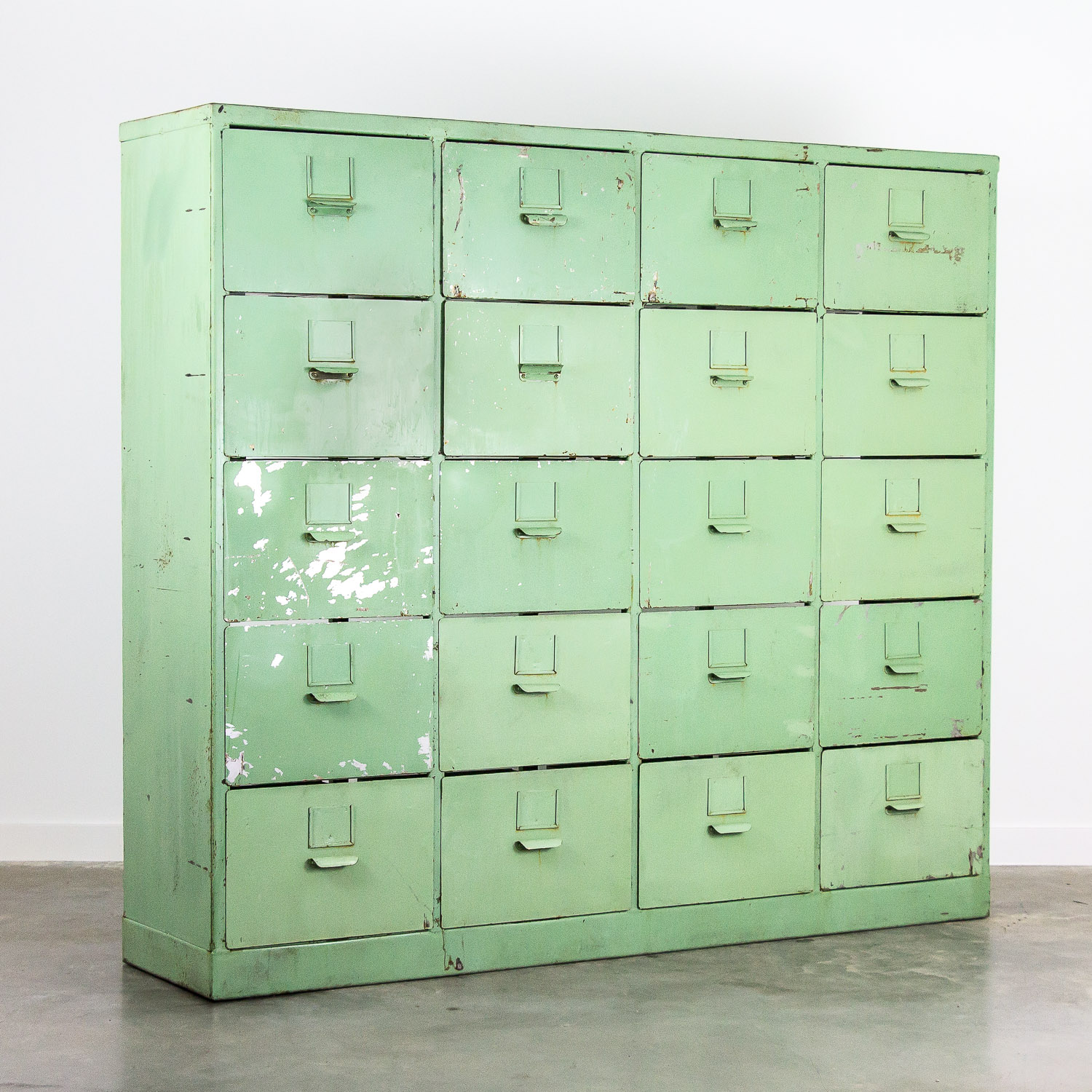 Big metal chest of drawers