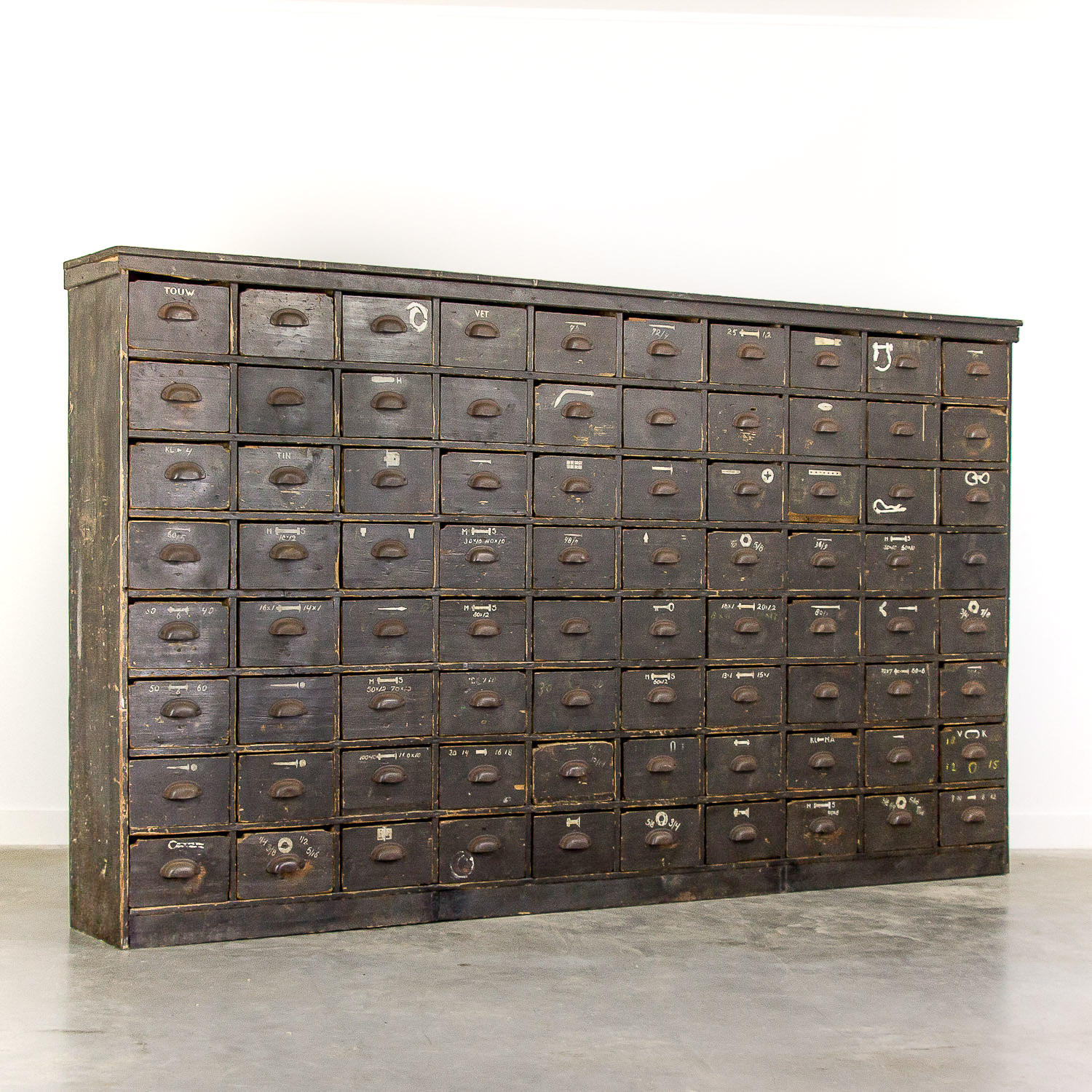 Big antique hardware cabinet