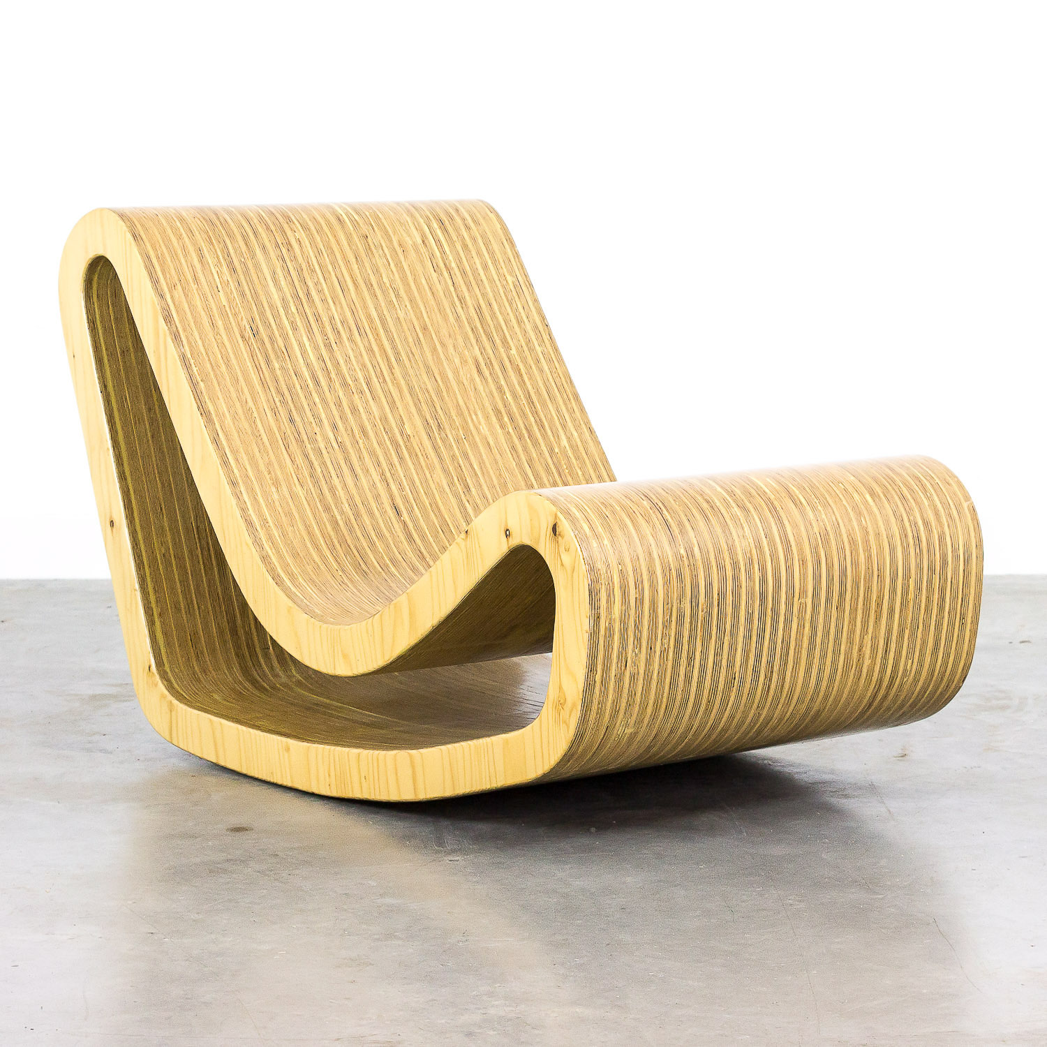 Loop chair by Willy Guhl  handmade replica in wood