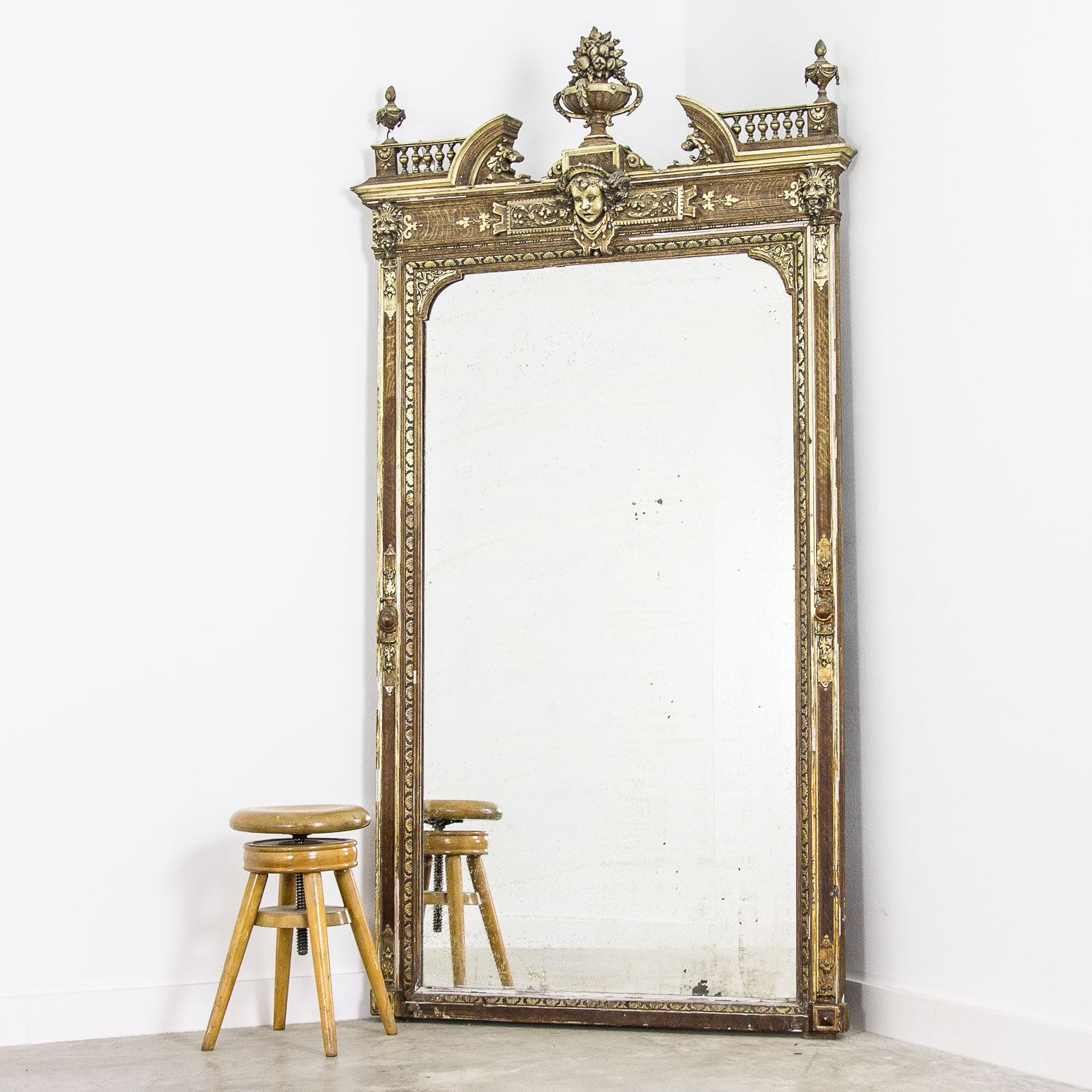 Big Napoleon III foxed mirror