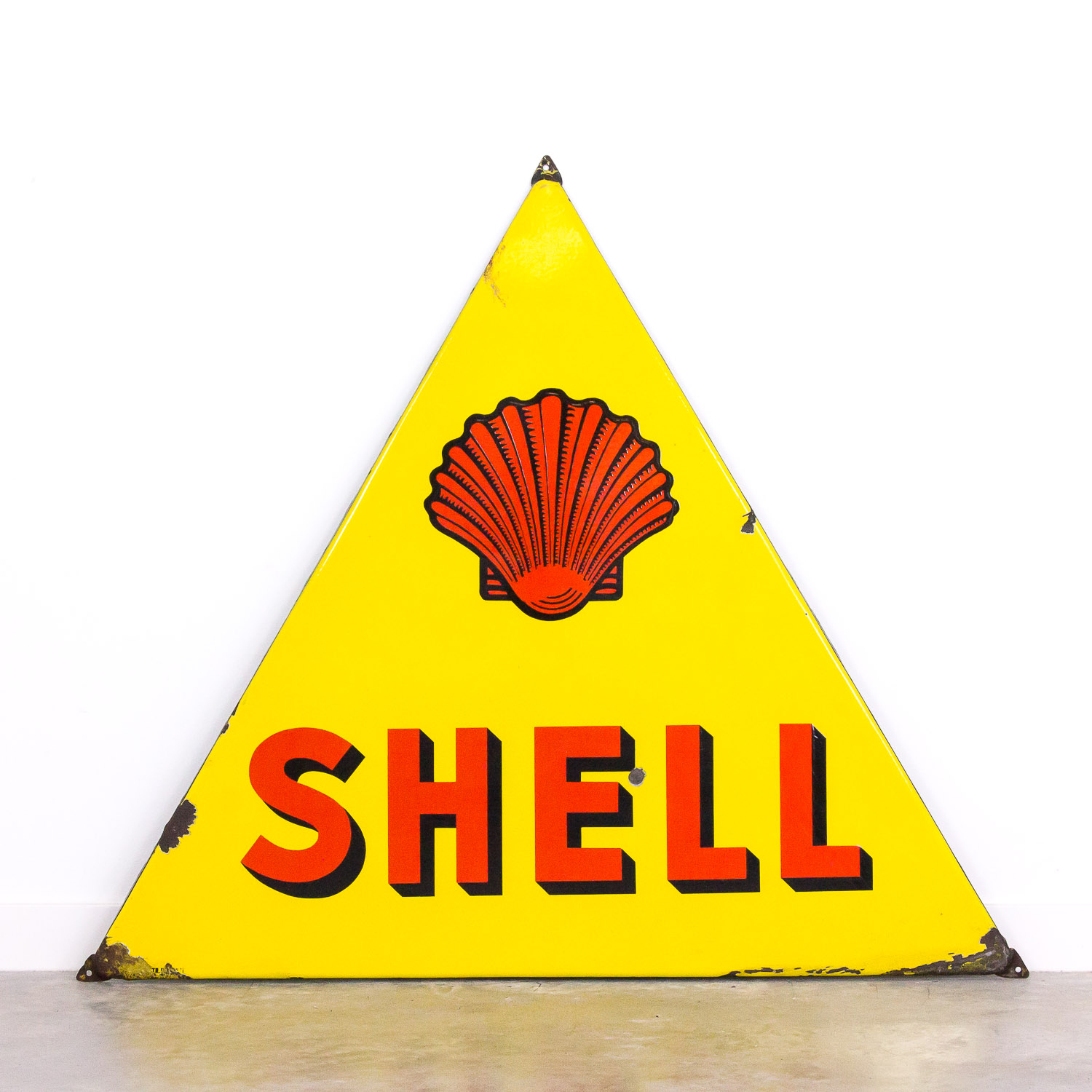 Big vintage enamel Shell sign