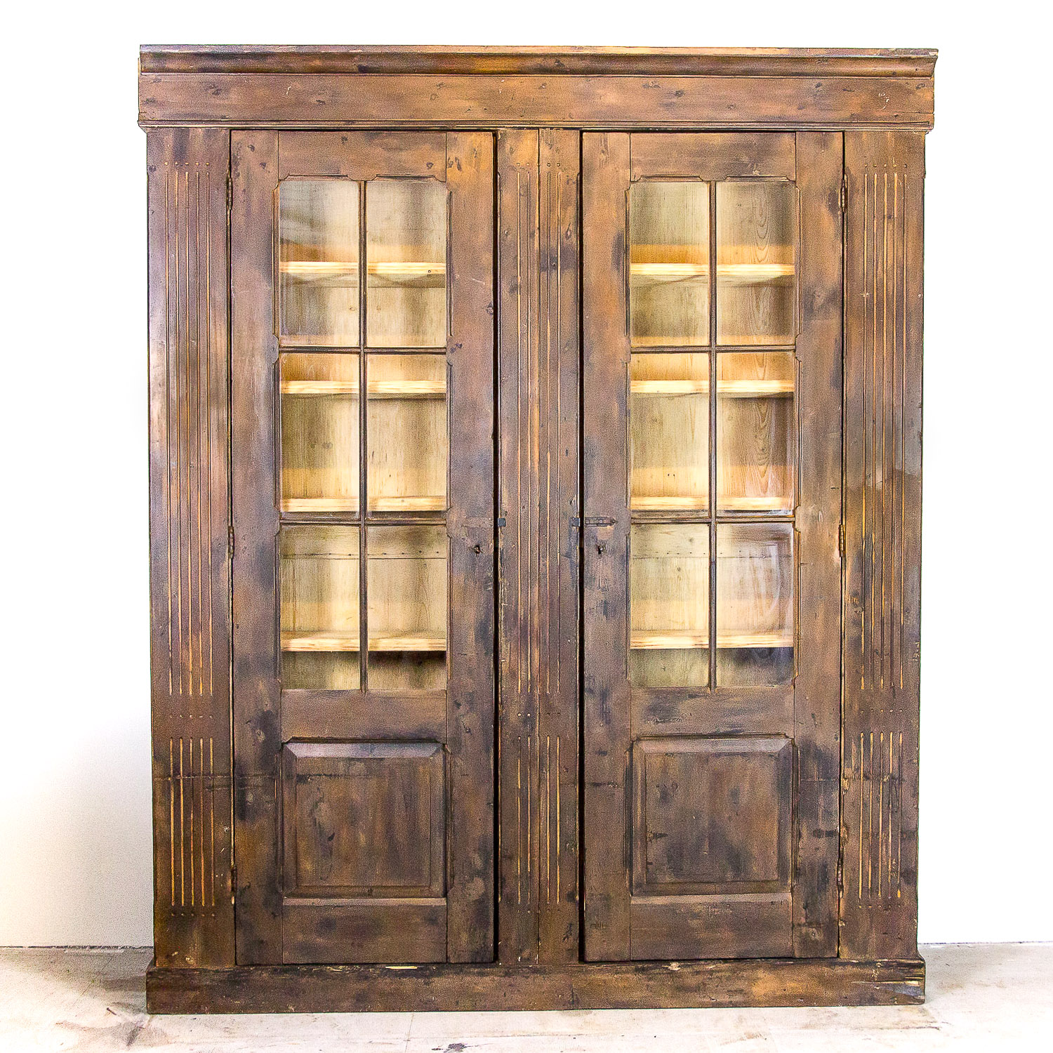 Large antique pine cabinet c.a. 1910