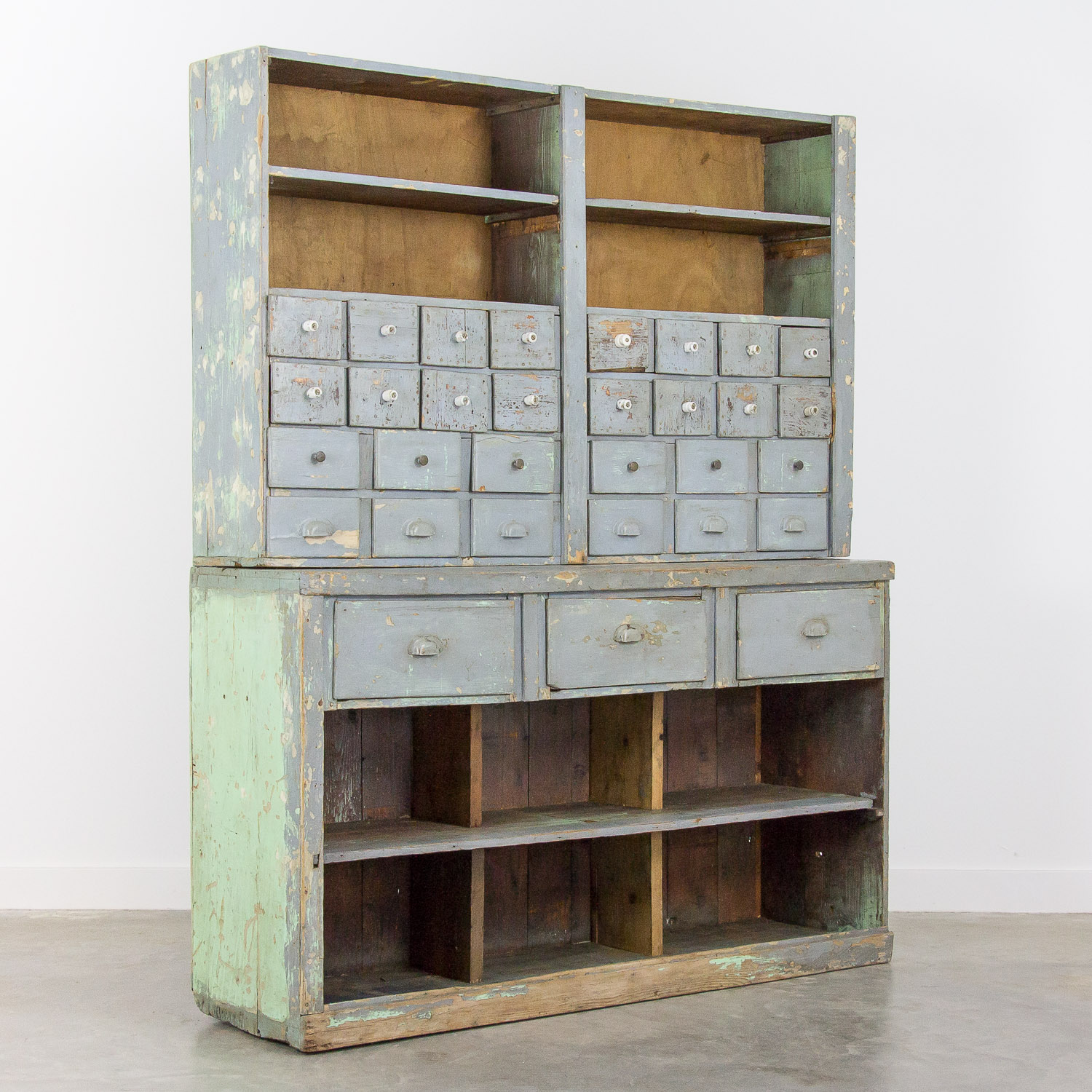 Industrial workplace hardware cabinet - 31 drawers