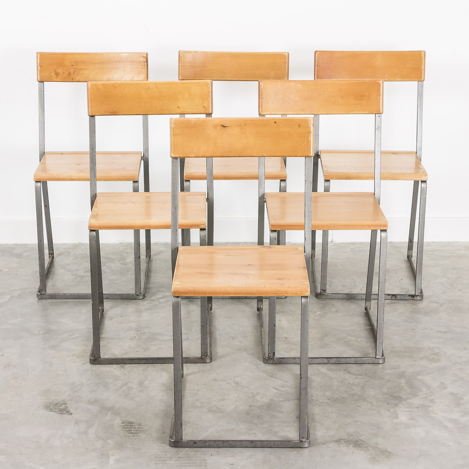 Vintage stackable chairs by Arthur Lindqvist for Grythyttans Stalmobler