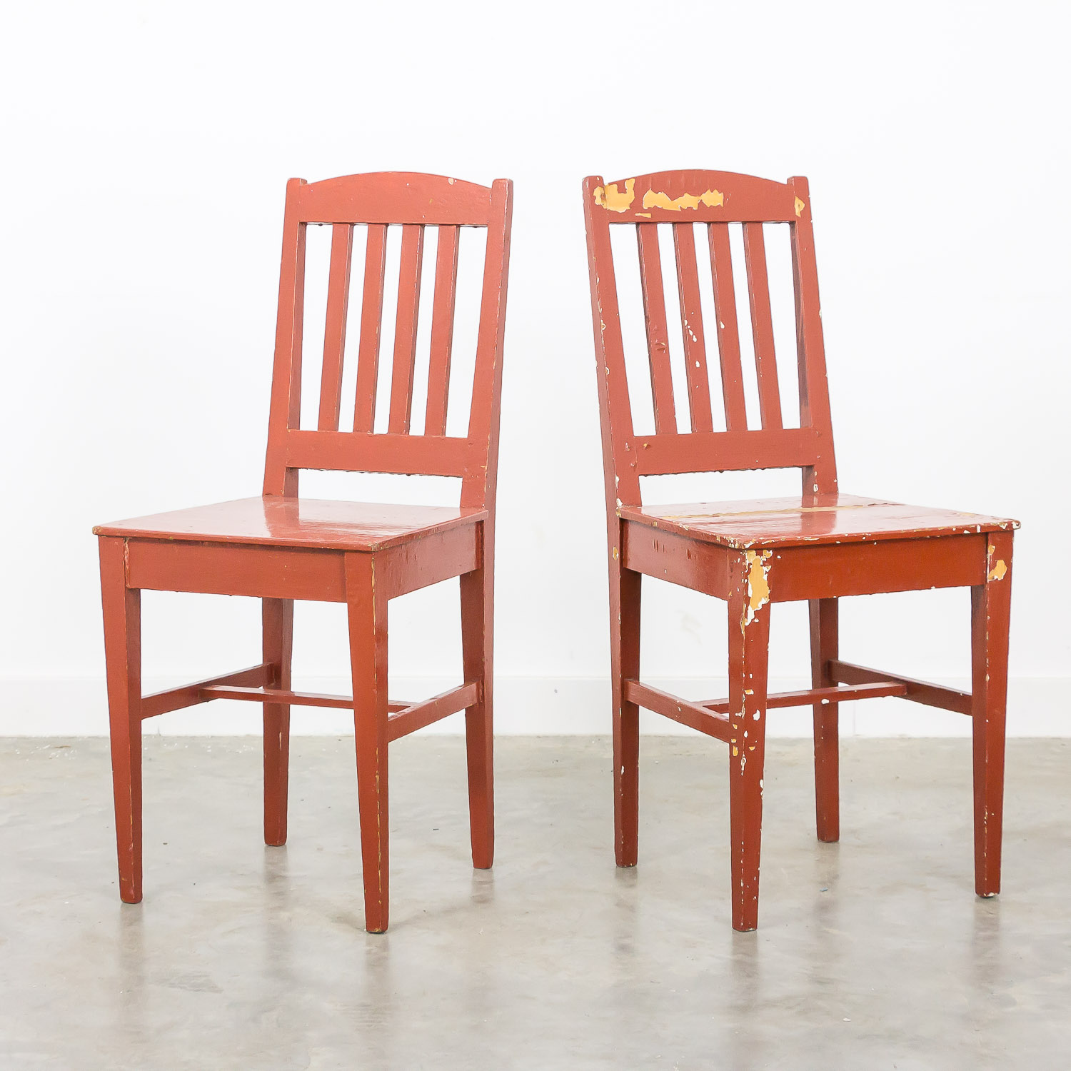 Swedish farmhouse chairs set of 2