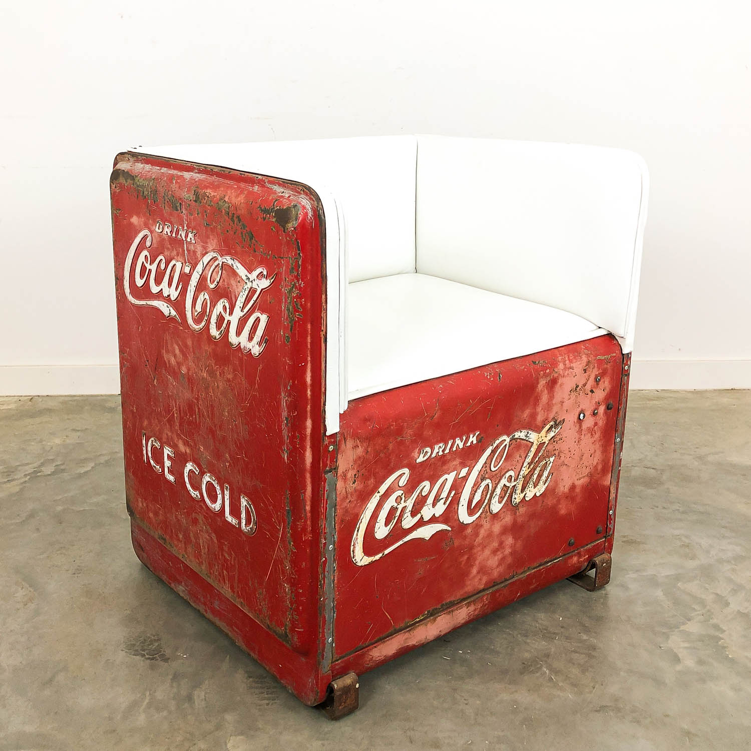 Vintage Coca Cola cooler chair USA 1930s