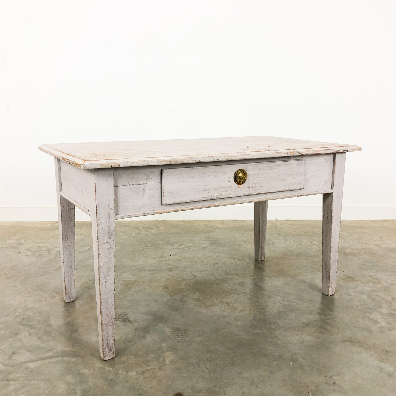 Swedish antique white  painted coffee table