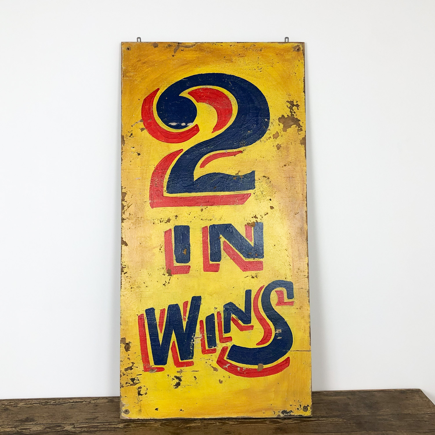 Vintage painted fairground sign 2 in Wins