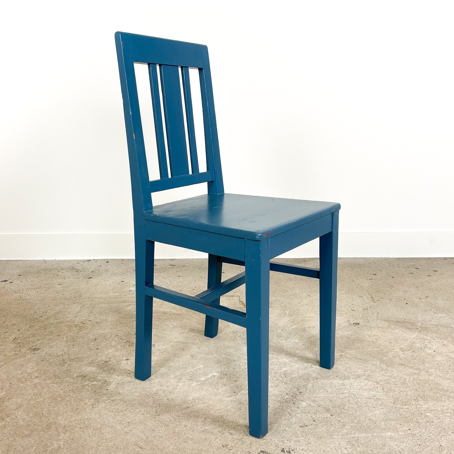Swedish antique blue painted chair A