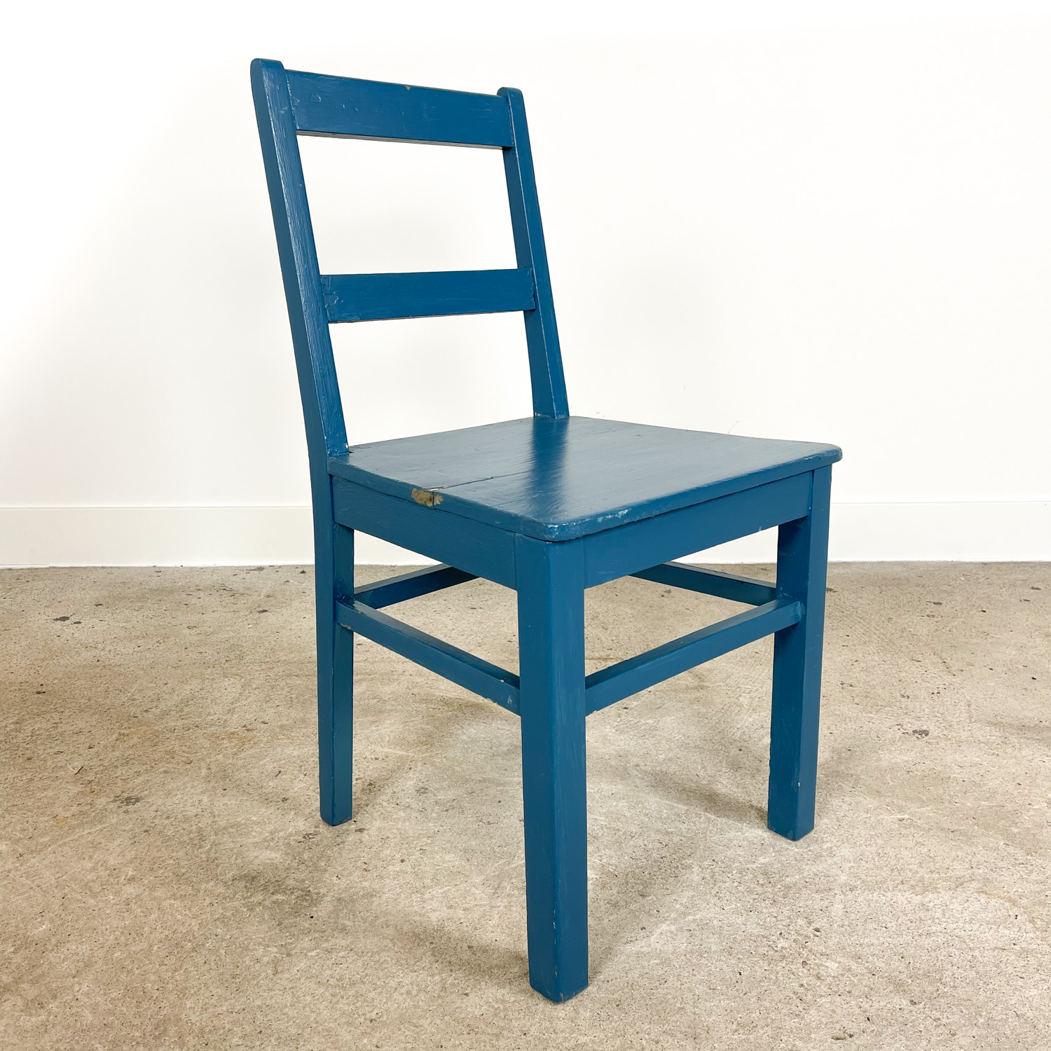 Swedish antique blue painted chair B