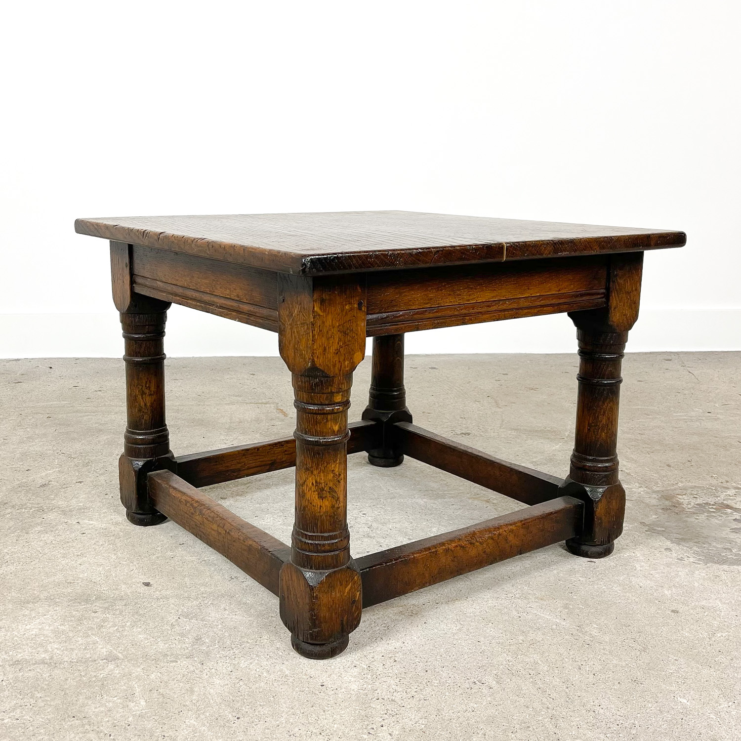Small square oak coffee table