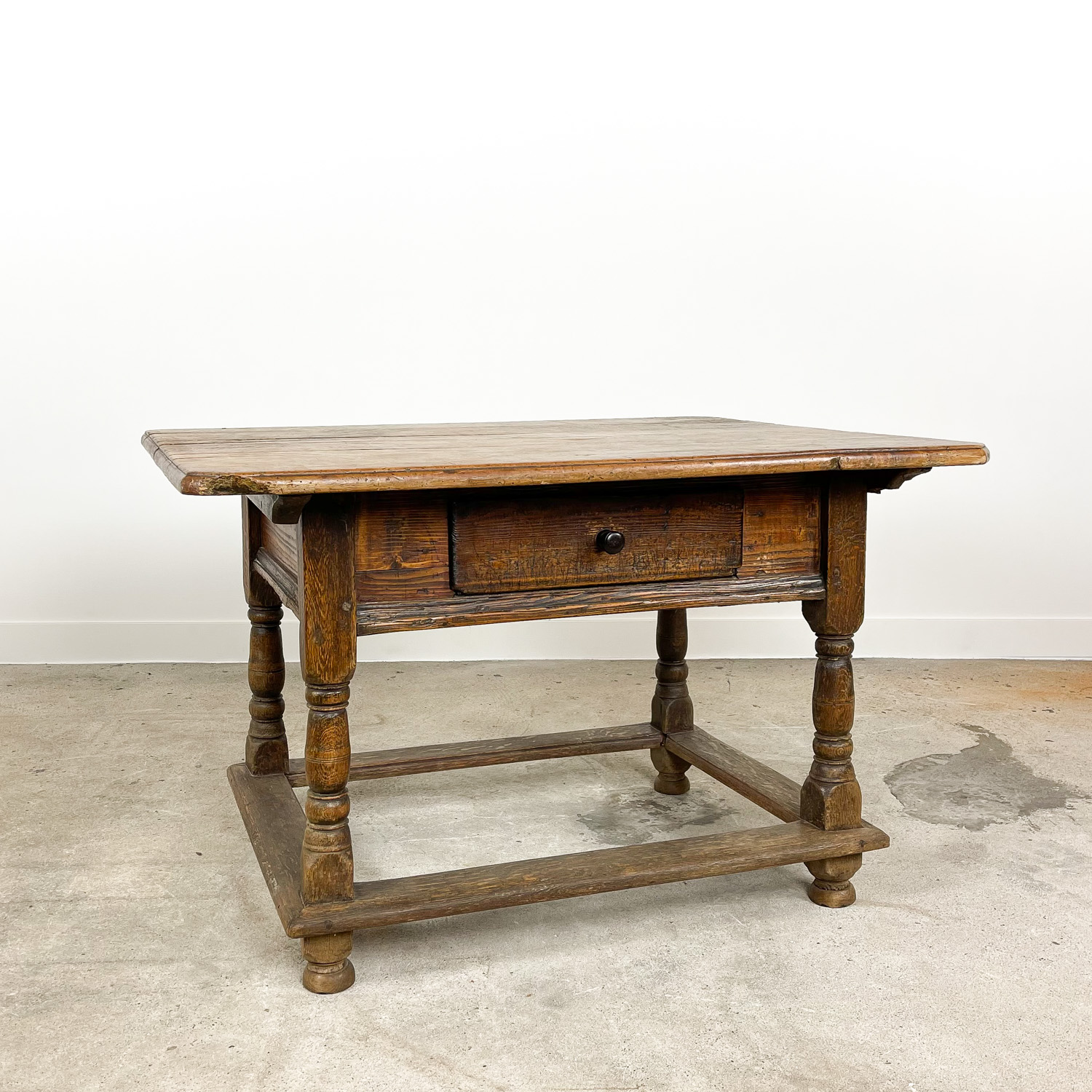 Antique farmhouse centre table