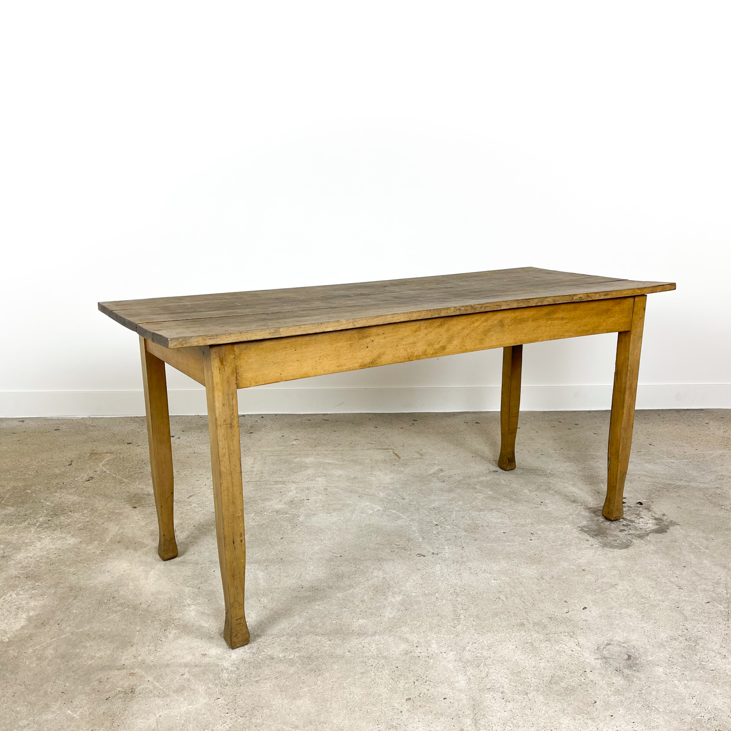 Vintage beech wooden table 160cm