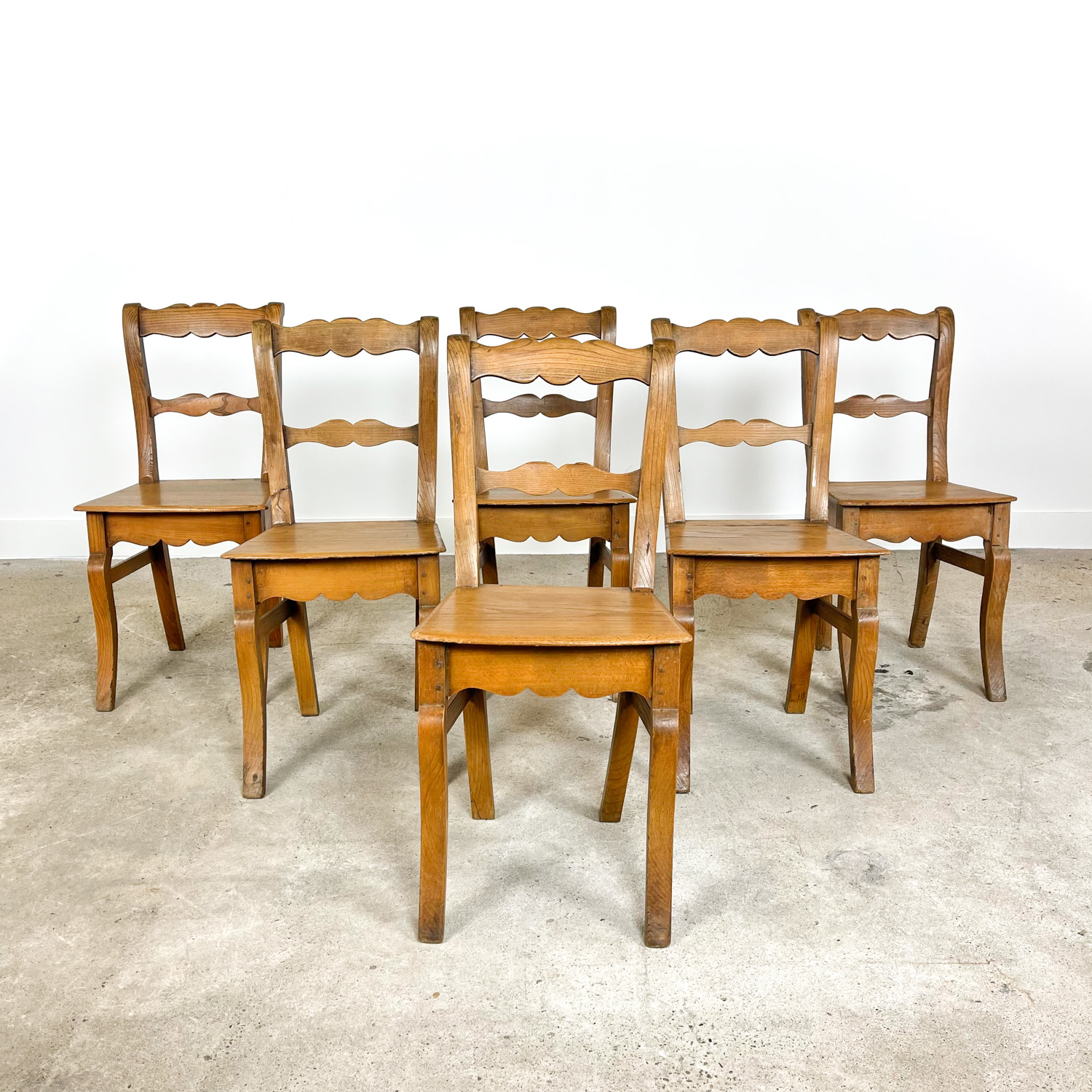 Set of 6 antique swedish dining chairs