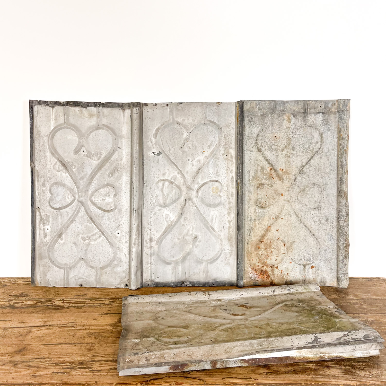 French antique galvanized wall panels Hart
