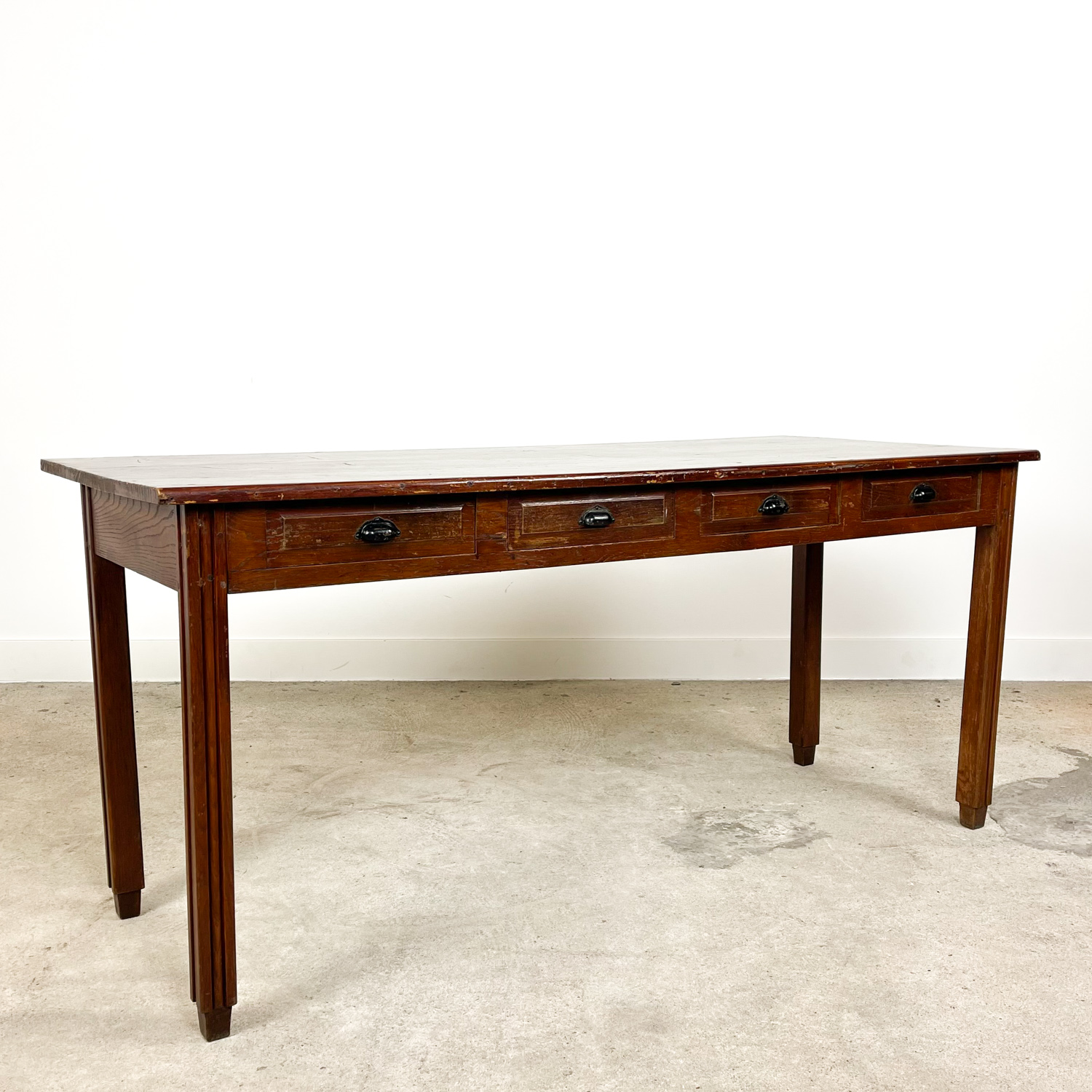French antique console table with drawers