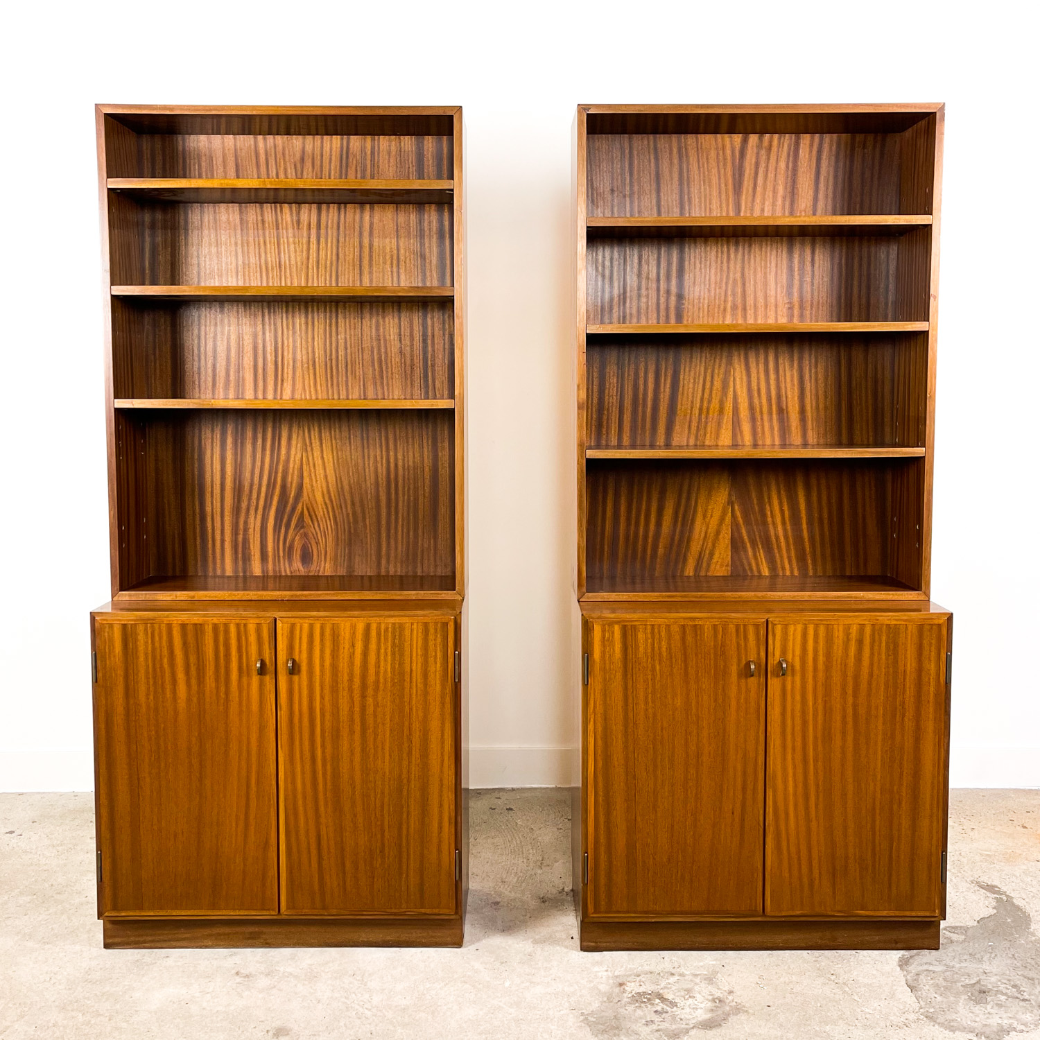 Set of two swedish mid-century modern book cases by Royal Board