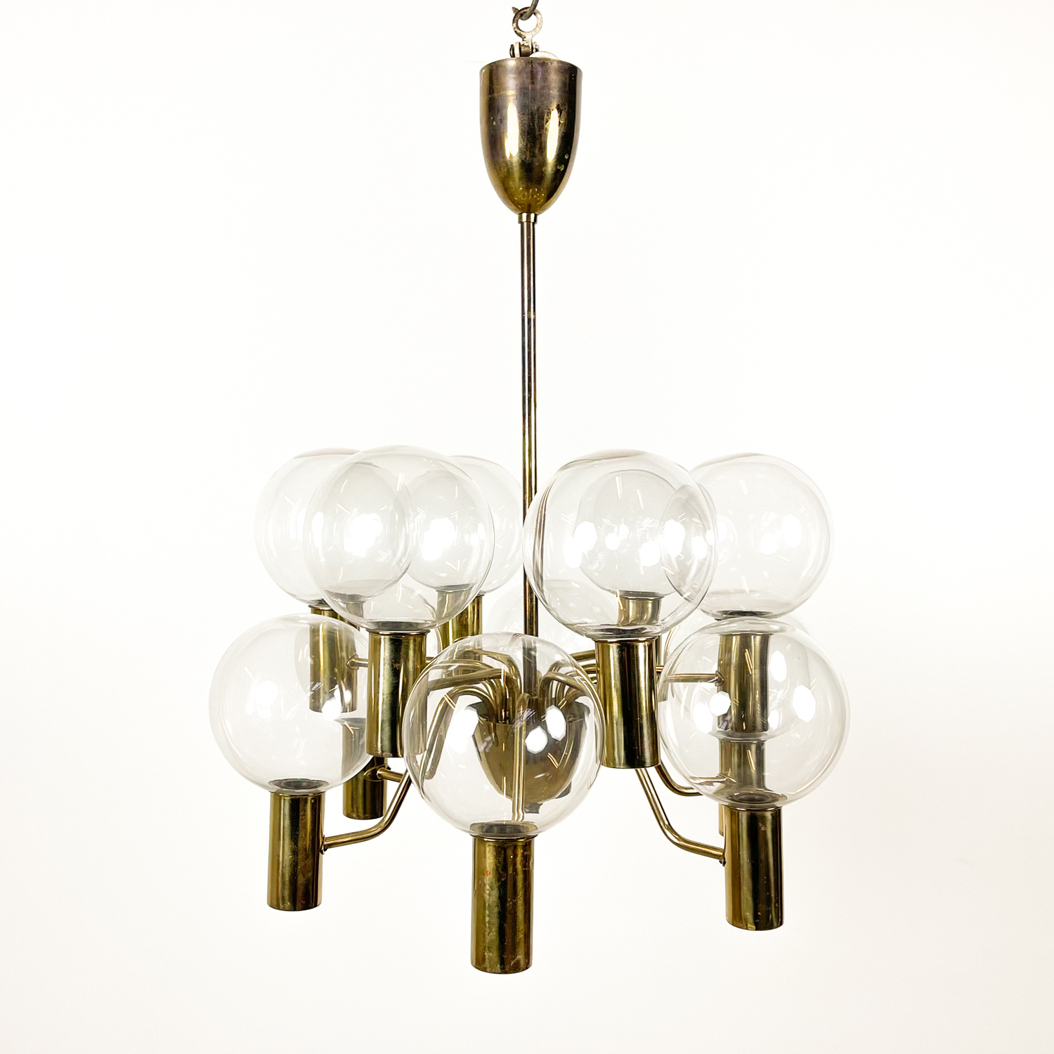 Hans agne Jakobsson chandelier model T372/12 Patricia clear glass