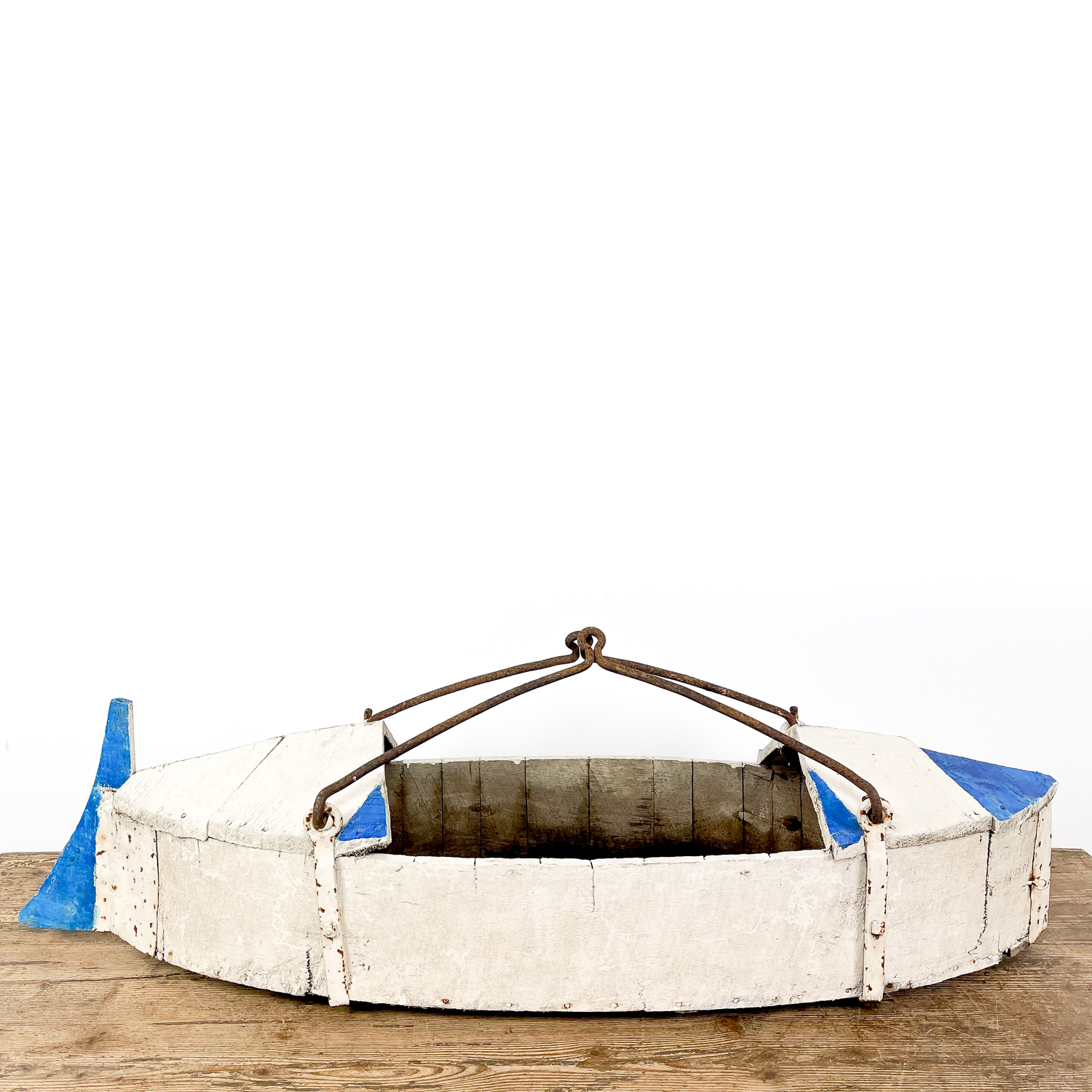 Antique wooden swing boat french fairground