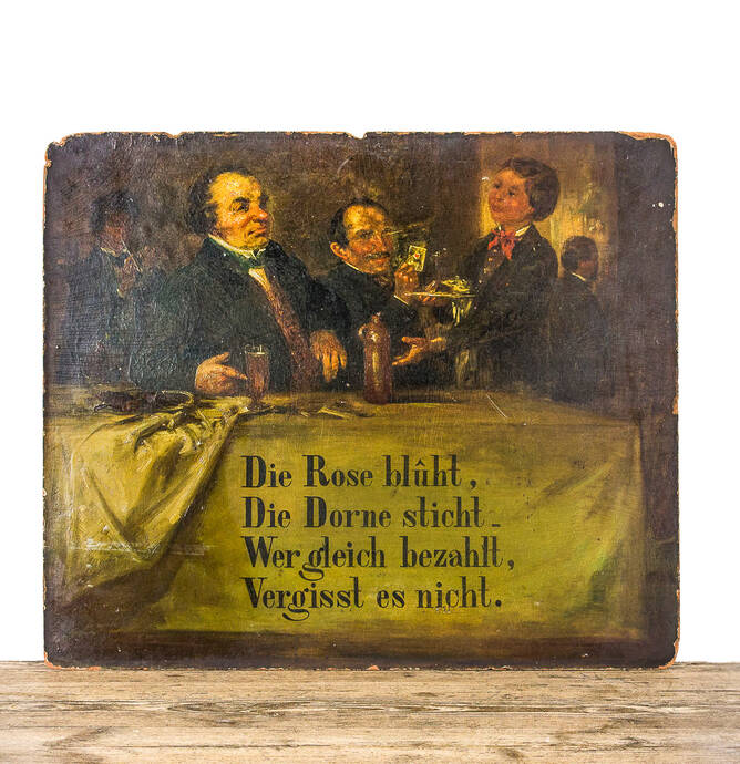 Antique German pub sign