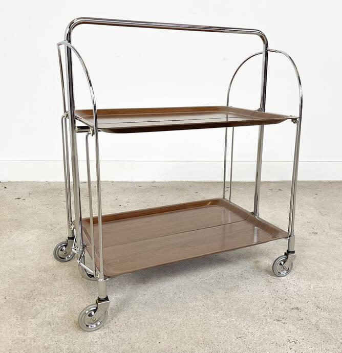 Vintage mid-century foldable serving trolley Gerlinol